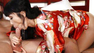 Sexy Geisha Sucking A Big Cock @ Pho King Asians #04